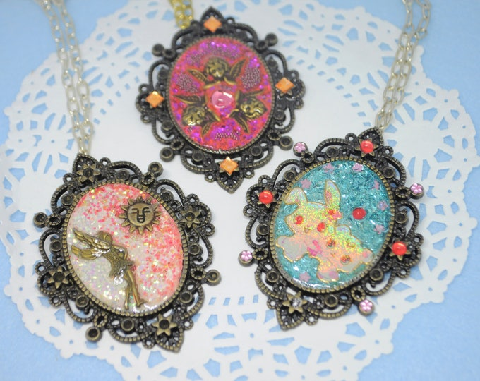 Big Handmade Resin and Pendant Necklaces