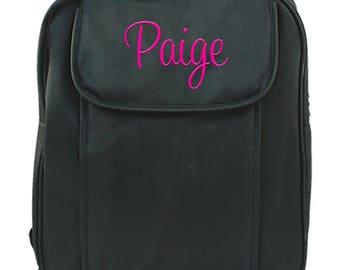 Personalized Toddler Backpack | Monogram Small Elementary Bookbag | Kids Kindergarten Backpack | Preteen Backpack | Preschool Black Backpack