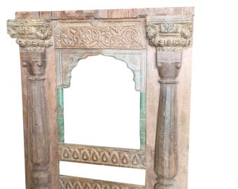 Antique miror Frame Hand Carved Haveli Jharoka Style, wall hanging Frame FREE SHIP Early Black Friday
