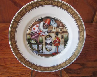 1975 The Steadfast Tin Soldier #9628  Hans Christian Anderson plates * Pauline Ellison,  with stand & box