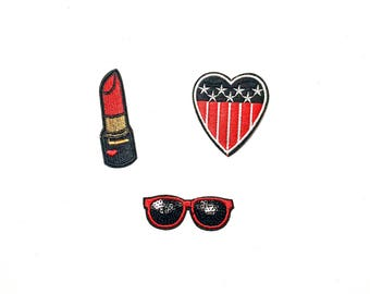 3pcs Iron-on embroidered patch