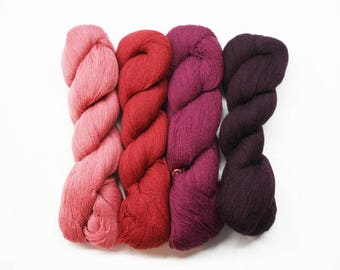 Medici Wool Hanks 13.99 Each, Wool Yarn, DMC Needlepoint Yarn, Needlework Threads, Needlepoint Threads, DMC Medici Wool Hanks Dusty Roses