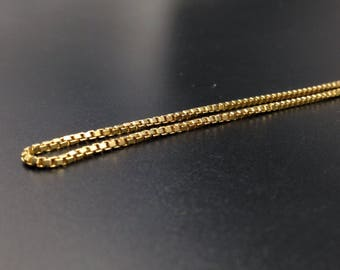 10k Yellow Gold Box Chain