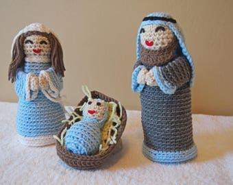Crochet Christmas Nativity Set Handmade