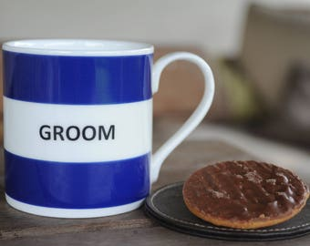 Groom Fine Bone China Hoop Mug/Wedding Gift