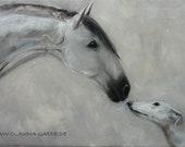 Windhund und spanisches Pferd (original)