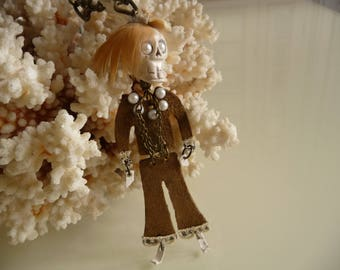 Collection doll Indian rock necklace