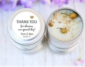 Wedding Candle Favours, Thank you gifts, Candle Bomboniere, Favours, Rustic Weddings, Thank you wedding gifts, Eco Weddings