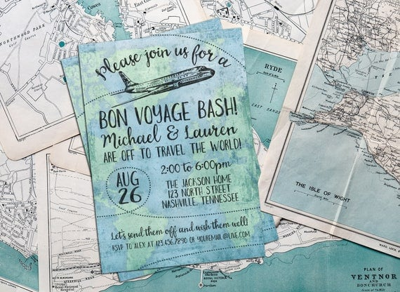 Bon voyage invite personalized printable bon voyage farewell il570xn stopboris Image collections