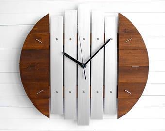 Star Wars Decor Art, Wall Clock, Steampunk Clock, Futuristic Art, Wooden Clock, Silver Wall Clock, Wood Gift, Living Room Clock,Silent Clock