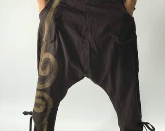 HC0188 Aladdin Baggy Thai cotton pants with elastic waist
