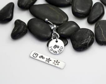 I Love My LEO Hand Stamped | Custom | Belly Ring