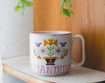 Cross Stitch Grandma  Mug