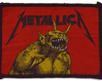 Vintage 80s Metallica Jump In the Fire Unused Patch