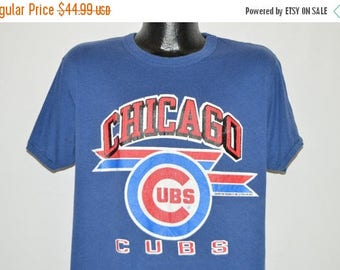 ON SALE 80s Chicago Cubs Champion t-shirt Large