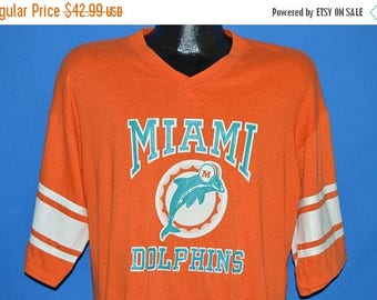 ON SALE 80s Miami Dolphins Jersey t-shirt Extra Large