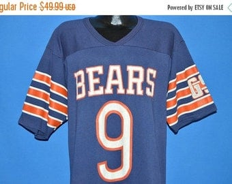 ON SALE 80s Chicago Bears Striped Jersey t-shirt Extra Large