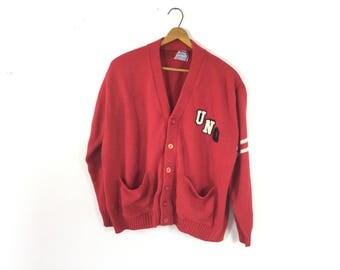 Nebraska sweater, vintage Omaha, vintage Nebraska, letterman sweater, university Nebraska Omaha sweater,