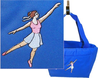 Dancer Lunch Pail Dance Cooler Tote Custom Embroidered Gift