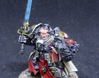 Brother Captain Stern. Grey Knights, Daemon Hunter for Warhammer 40,000. Hand Painted Miniature from Games Workshop