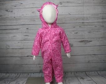 Pink Leopard Fleece Baby Costume, Leopard Baby Costume, Leopard Baby Outfit, Pink Leopard Infant Outfit