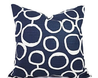 15% OFF SALE Two Navy Decorative Throw Pillow Covers - Two Navy and White Pillow Covers - Navy Couch Pillow - Navy Blue Accent Pillows - Pil