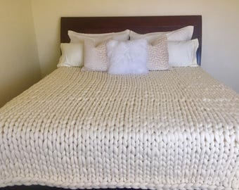 Extreme knitting top wool knit blanket