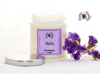 Relax Candle | Relaxation Candle | Natural Soy Candle | Best Smelling Candles | Jar Candle | Soy Candle