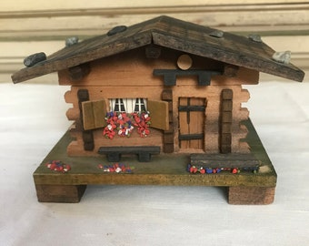 Small Swiss Chalet Music Box, Plays the Theme From Dr. Shivago