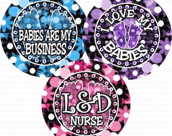 L&D Nurse Bubbles Flowers Bottle Cap Images 4x6 Bottlecap Collage Scrapbooking Jewelry Hairbow Center