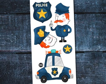 Temporary Tattoos - Mathis the police