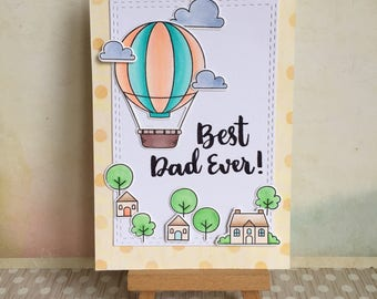 Handmade Layered Father's Day Card #1702 - Best Dad Ever