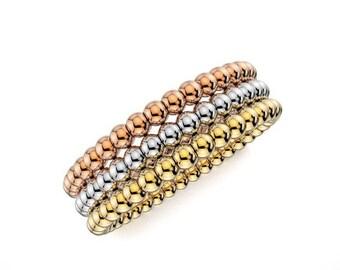 14K   Gold,  Three Kolor Wedding Ring Band