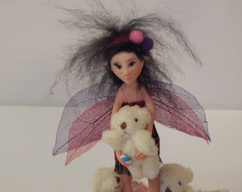 polymer  clay  OOAK  fairy