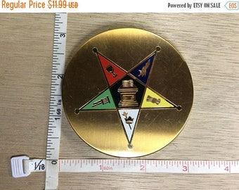 10% OFF 3 day sale Vintage Elgin American Powder Compact Eastern Star Masonic Masons Used