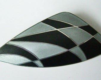 Vintage Michelsen Danish Modernist Sterling Silver Enamel Pin