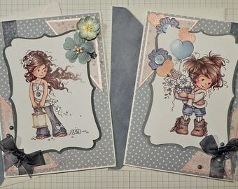 Birthday Greeting Cards - set of 2 with Envelopes