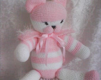 Princess pink and white cat