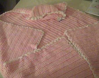 Baby Crochet Balnket with Hoodie