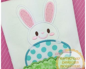 ON SALE Easter Bunny 2 Machine Embroidery Applique Design