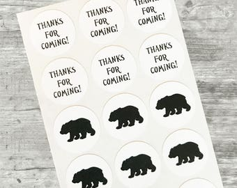 Woodland Baby Shower, Bear Baby Shower, Deer Baby Shower,  Deer Candy Kiss Stickers,  Woodland Party Favors