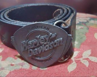 Vtg. 1990s Harley Davidson Belt With Buckle Size 36 -38