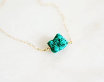 Riva - Raw Turquoise Necklace
