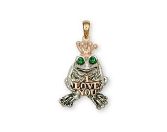 Frog Pendant Jewelry Silver And Gold Handmade Frog Pendant FG18L-TTP