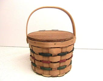 Basket, Little Boyd Bear Basket, Lidded Boyd Bear Basket