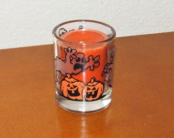 Halloween Votive Candle Holder w/ Scented Candle