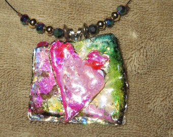 Recycled/Upcycled CD/DVD necklace