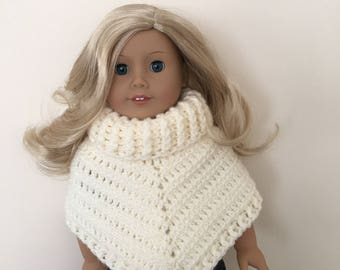 18 inch doll poncho! Fits American Girl Doll. doll clothes, doll poncho, American Girl, Gotz Precious day, doll outfit, toy, doll, multicolo