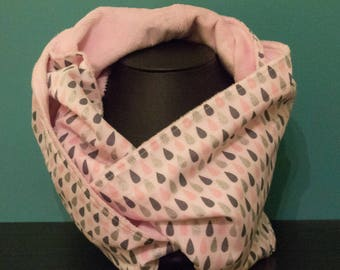 Powdered, soft cotton and minkee super woman Snood