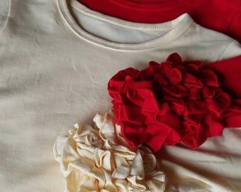 Boutique Clothing Little Girls Cotton Cream Top Ivory Ruffle Sleeve Shirt Long Sleeve Layering Shirt Cream Layering Top Girl Ruffle Tee